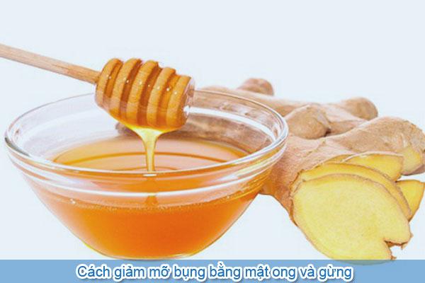 Cách giảm mỡ bụng bằng mật ong và gừng
