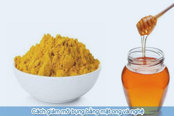 Cách giảm mỡ bụng bằng mật ong và nghệ