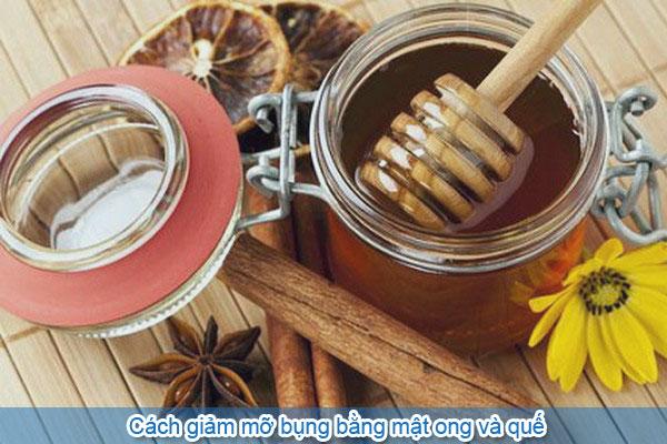 Cách giảm mỡ bụng bằng mật ong và quế