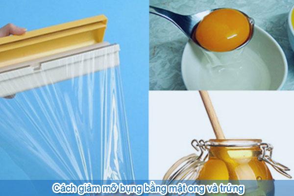 Cách giảm mỡ bụng bằng mật ong và trứng