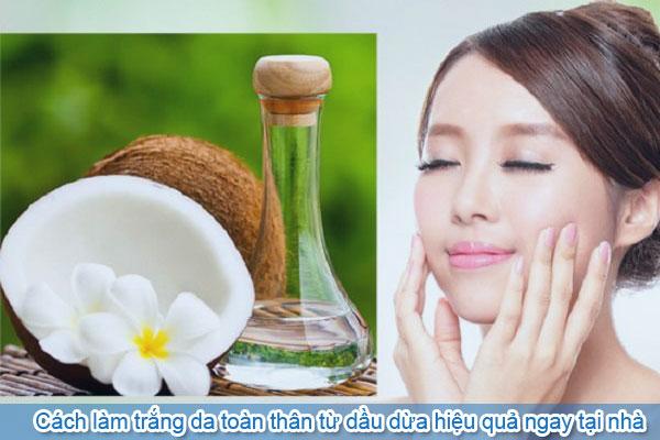 Cách làm trắng da toàn thân từ dầu dừa hiệu quả ngay tại nhà