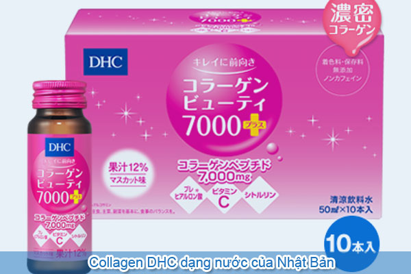 Collagen DHC dạng nước của Nhật Bản