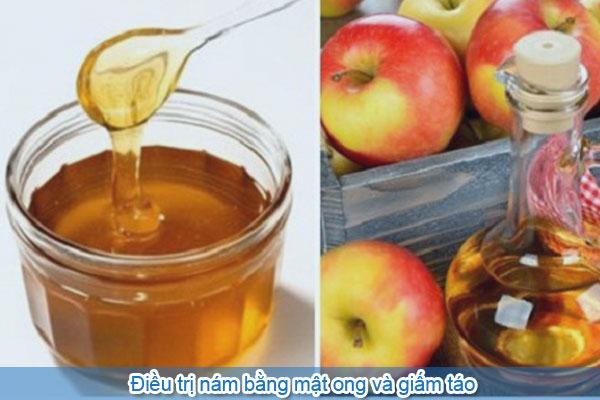 Điều trị nám bằng mật ong và giấm táo