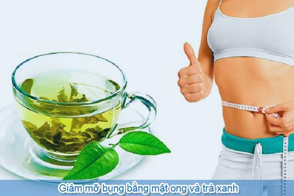 Giảm mỡ bụng bằng mật ong và trà xanh