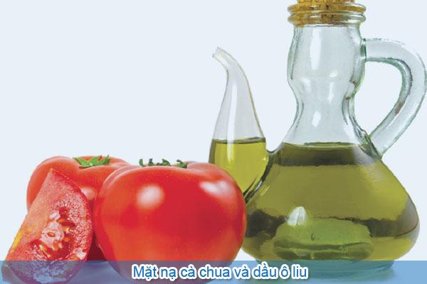 mặt nạ cà chua và dầu ô liu