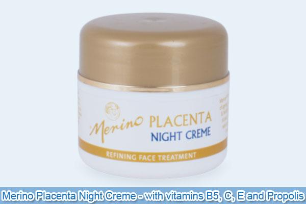 Merino Placenta Night Creme - with vitamins B5, C, E and Propolis