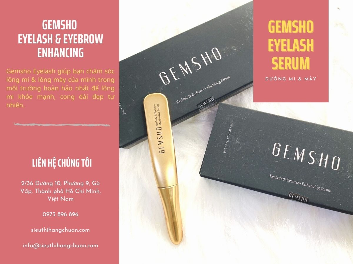 Serum Gemsho Eyelash & Eyebrow Enhancing