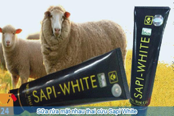 Sữa rửa mặt nhau thai cừu Sapi White