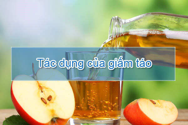 Tác dụng của giấm táo