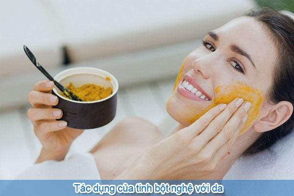 Tác dụng của tinh bột nghệ với da