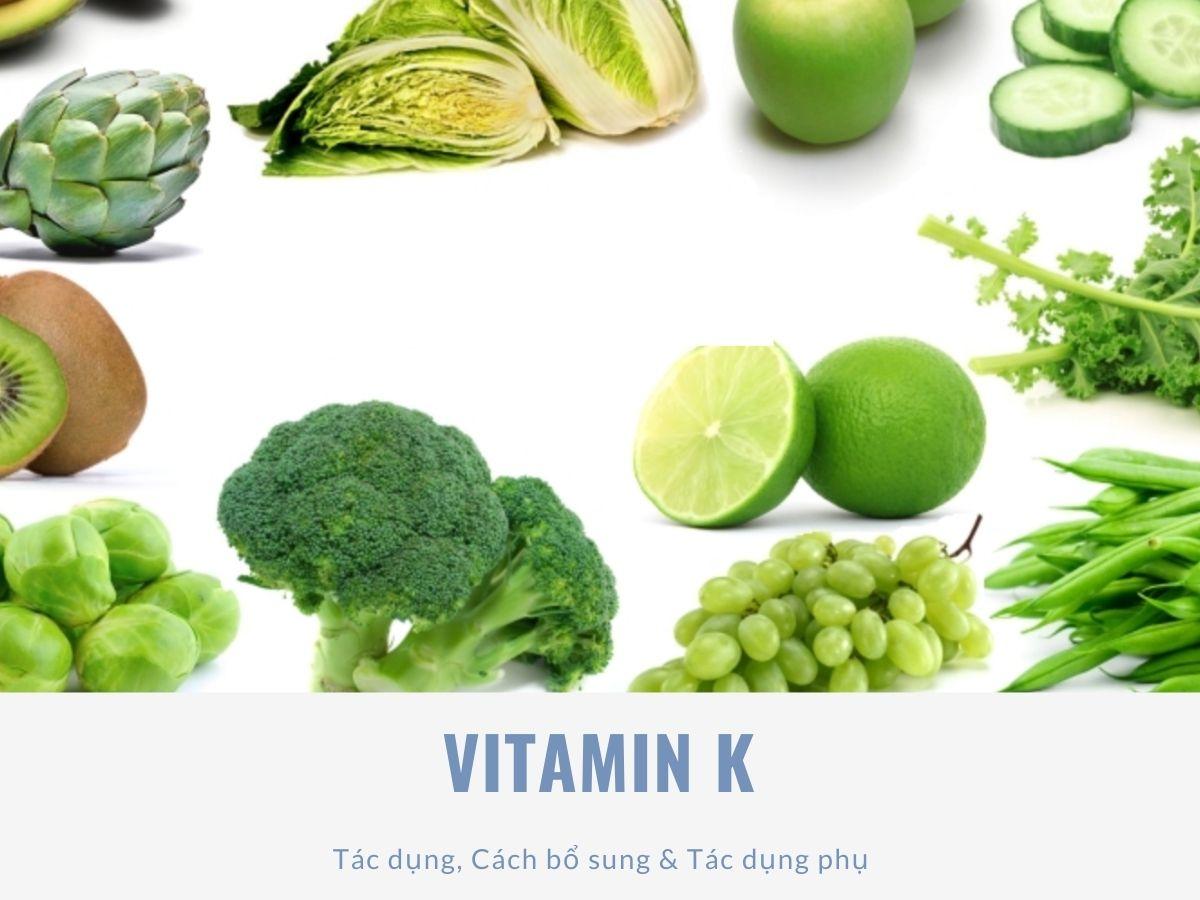 Thực phẩm chứa nhiều vitamin K