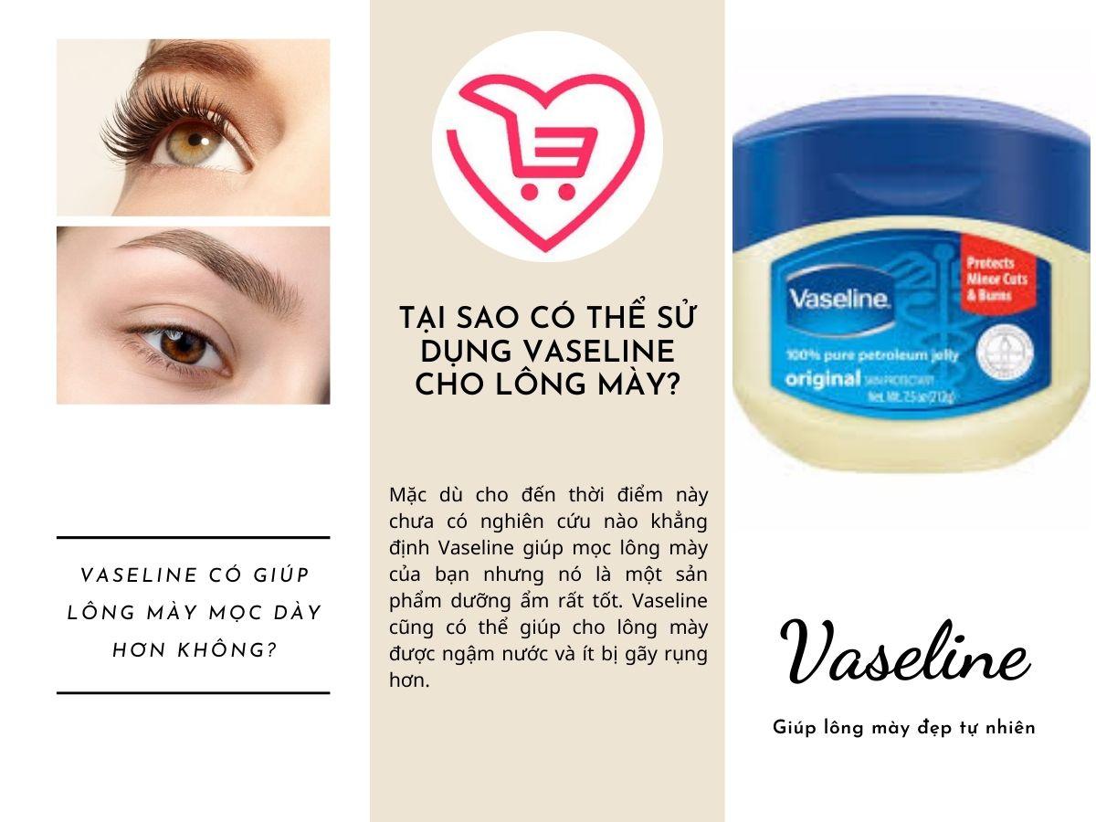 Vaseline giúp lông mày mọc nhanh?